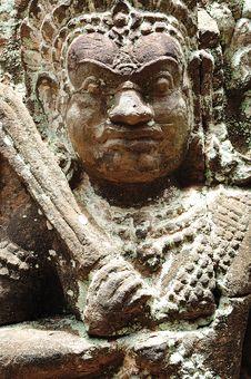 Free Cambodia; Angkor; Leper King Terrace Royalty Free Stock Images - 5316379