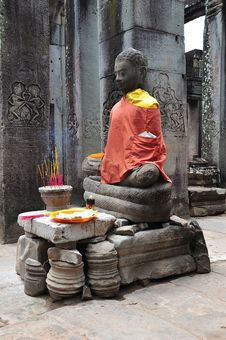 Free Cambodia Angkor Bayon Temple Stock Photography - 5316392