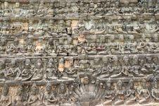 Free Cambodia Angkor Leper King Terrace Stock Photos - 5316453