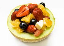 Fruits In A Melon Stock Photos