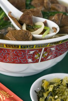 Asian Beef Noodle Bowl 3 Royalty Free Stock Photos