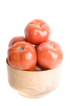 Free Tomatoes In Wooden Bowl Royalty Free Stock Photos - 5316938