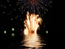 Free Fireworks Reflected In Water Background Royalty Free Stock Photo - 5317955