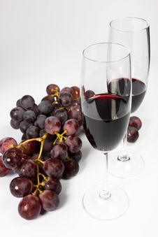 Two Glasses Of Red Wine Stock Images