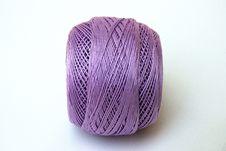 Free Close Up Lilac Yarn Ball Stock Photos - 5318413