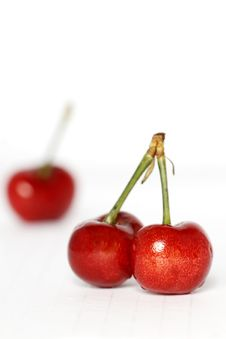 Free Red Cherry Royalty Free Stock Photo - 5318635