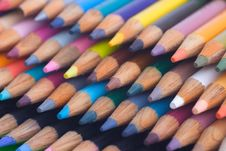 Free Stack Of Colored Pencils Stock Image - 5319011