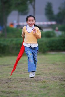 Free Running  Girl Royalty Free Stock Images - 5319759