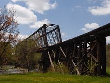 Free Old Railroad Bridge Stock Image - 5319851