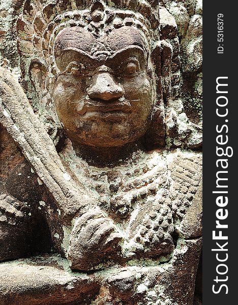 Cambodia; Angkor; leper king terrace