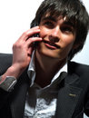 Free Attractive Guy On The Phone Stock Image - 5321101