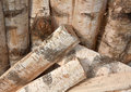 Free Background From Wooden Logs Stock Photography - 5324822
