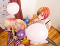 Free Girls With Balloons Stock Images - 5326294