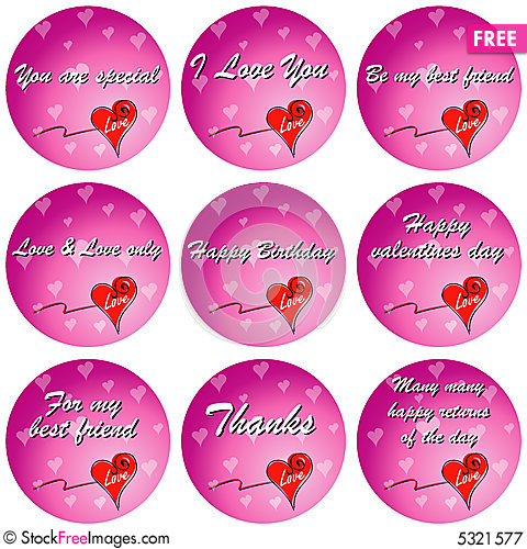 Free Colorful Love With Quotes Royalty Free Stock Photography - 5321577