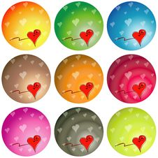 Colorful Love Hearts Royalty Free Stock Images