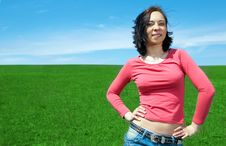 Free Woman In Field Stock Photography - 5321512