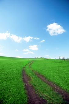 Free Landscape Road In Field Stock Photography - 5321592