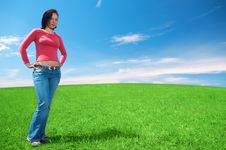 Free Woman In Field Royalty Free Stock Image - 5321606