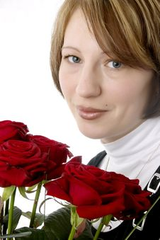 Free Female And Roses Royalty Free Stock Photography - 5323517