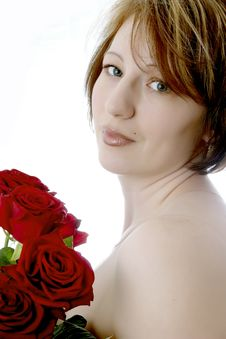 Free Female And Roses Royalty Free Stock Photo - 5323545