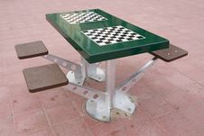 Free Chessboad Table In Spain Royalty Free Stock Image - 5323706