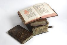 Free Pile Of Antique Books Stock Photography - 5323962