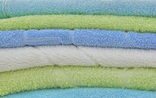 Free Background.Double Towels Royalty Free Stock Image - 5324236