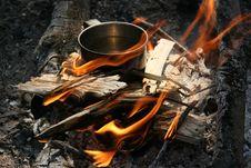 Free Metallic Mug With Water On A C Royalty Free Stock Image - 5324256