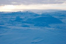 Ice Field In Greenland Royalty Free Stock Image