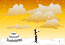 Free Zen Snow  2, Vector Royalty Free Stock Photos - 5326238