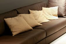 Free Pillows On Sofa Stock Images - 5326334