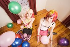 Free Girls With Balloons Royalty Free Stock Image - 5326386