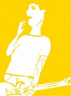 Free Guitar Playing Hero Stock Image - 5326981