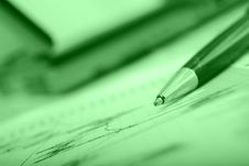 Pen On Chart With Shallow Dof Royalty Free Stock Photo