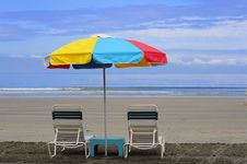 Free Beach Chairs Stock Photography - 5327062
