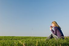 Free Girl In The Field Stock Photography - 5328222
