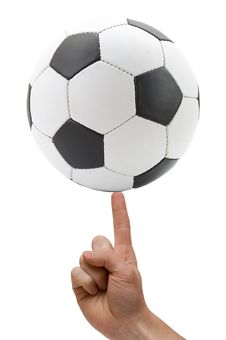 Free Soccer Ball At Finger Royalty Free Stock Photo - 5328225