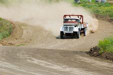 Lorry In Drift Stock Photos