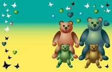 Free Teddy Bear Family Royalty Free Stock Photos - 5328338