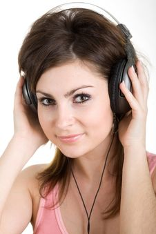 Free Woman In Headphone Stock Photo - 5328390