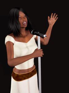 Free Black Woman Singing Royalty Free Stock Images - 5328839
