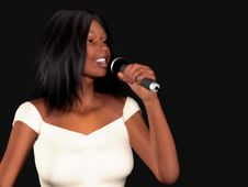 Free Black Woman Singing Royalty Free Stock Photo - 5328845