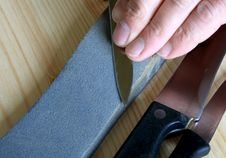 Free Sharpening Of Kithen Knives Stock Photos - 5329033