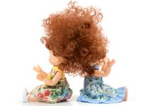 Free Two Dolls Sit Stock Photography - 5329292
