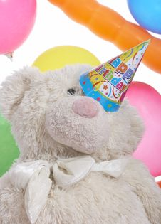 Free Party Hat On Teddy Bear Stock Photo - 5329300