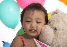 Free Teddy Bear With A Child Royalty Free Stock Image - 5329336