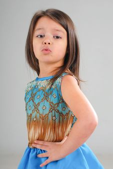 Free Little Girl With Brown Hair Stock Photography - 5329602