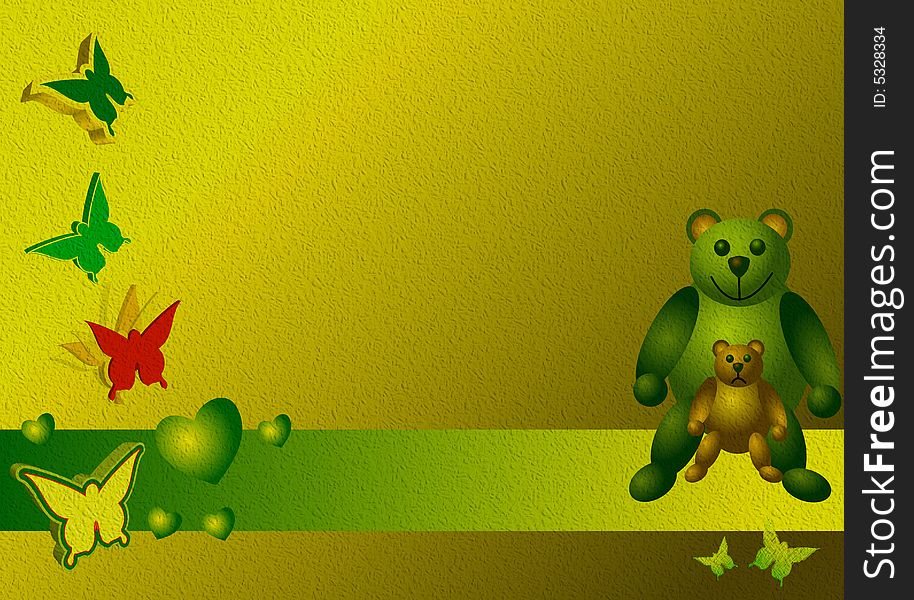 Banner with teddy bears