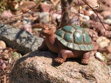 Stone Turtle Statue In A Garden Stock Photography
