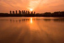 Free The Yangtze River Sunset Royalty Free Stock Photos - 53259718
